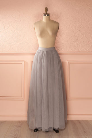 Nydie Fog - Grey maxi tulle skirt