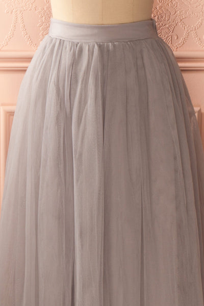 Nydie Fog - Grey maxi tulle skirt 2