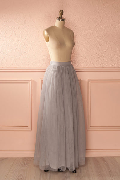 Nydie Fog - Grey maxi tulle skirt 3