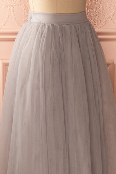 Nydie Fog - Grey maxi tulle skirt 4