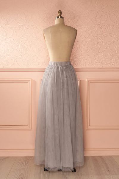 Nydie Fog - Grey maxi tulle skirt 5