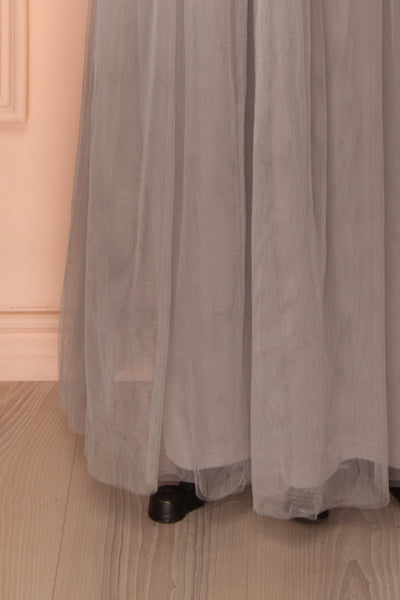 Nydie Fog - Grey maxi tulle skirt 7