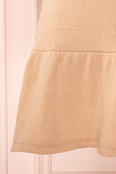 Ondine Sand Beige Knitted Fit & Flare Dress | Boutique 1861 bottom