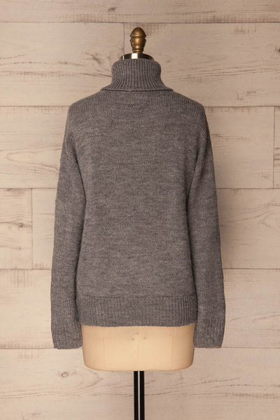Offida Grey Turtleneck Sweater with Buttons | La Petite Garçonne 5