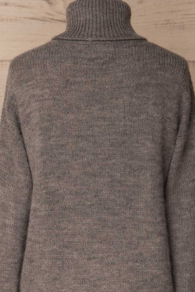 Offida Grey Turtleneck Sweater with Buttons | La Petite Garçonne 6