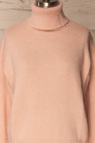 Offida Pink Turtleneck Sweater with Buttons | La Petite Garçonne 2