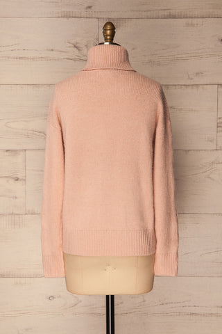 Offida Pink Turtleneck Sweater with Buttons | La Petite Garçonne 5
