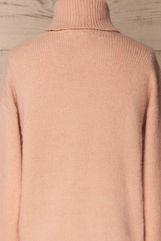 Offida Pink Turtleneck Sweater with Buttons | La Petite Garçonne 6
