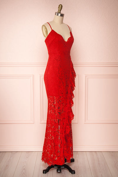 Ogaki Red Lace Mermaid Gown | Boutique 1861 3