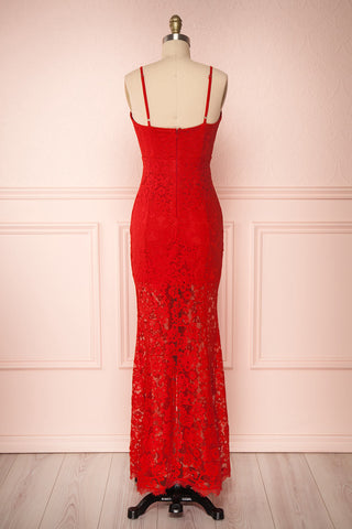 Ogaki Red Lace Mermaid Gown | Boutique 1861 5