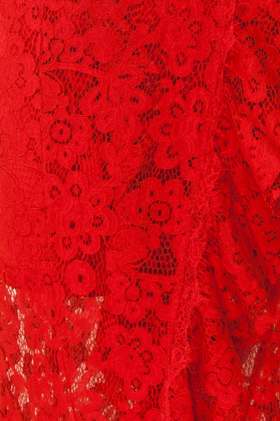 Ogaki Red Lace Mermaid Gown | Boutique 1861 8