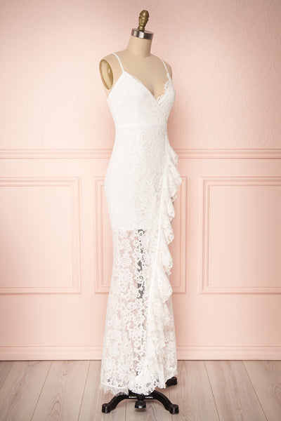 Ogaki White Lace Mermaid Gown | Boutique 1861 3