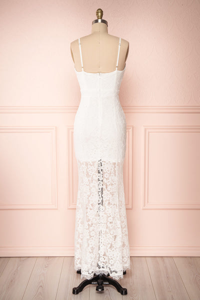 Ogaki White Lace Mermaid Gown | Boutique 1861 5