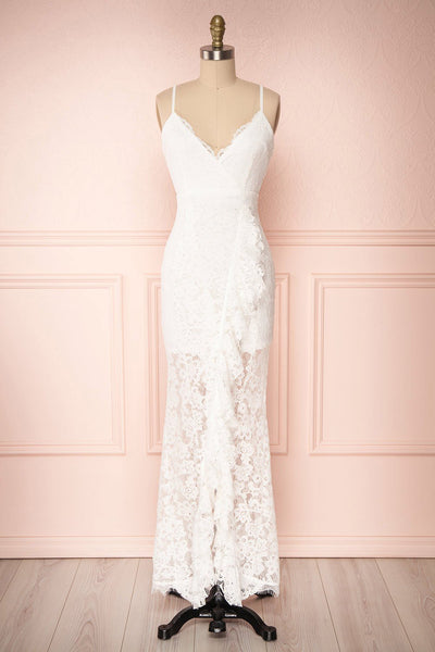 Ogaki White Lace Mermaid Gown | Boutique 1861