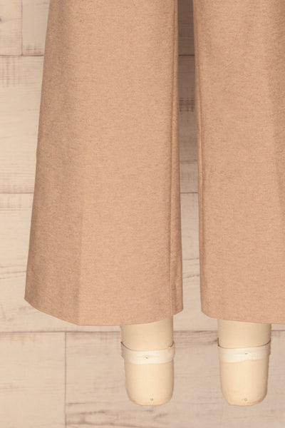 Ohrid Beige Wide Leg Cropped Pants | La petite garçonne bottom