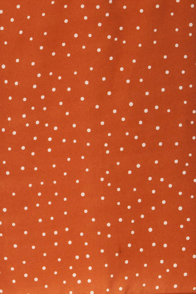 Olocau Orange & White Polkadot Button-Up Camisole | La Petite Garçonne 7