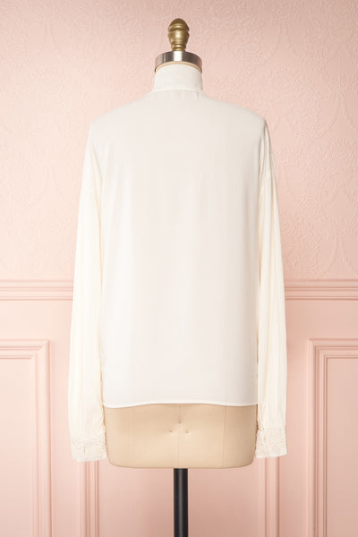 Olympa Ivory Blouse | Chemisier Ivoire back view | Boutique 1861