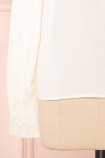 Olympa Ivory Blouse | Chemisier Ivoire sleeve close up | Boutique 1861