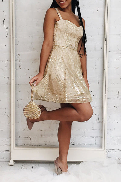 Ophelie Or | Gold A-Line Dress