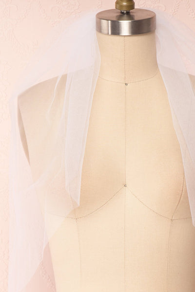 Oriana White Seamless Wedding Veil front close up | Boudoir 1861