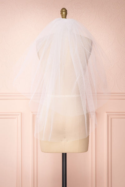 Oriana White Seamless Wedding Veil back view | Boudoir 1861