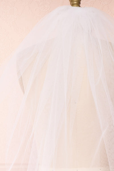 Oriana White Seamless Wedding Veil back close up | Boudoir 1861