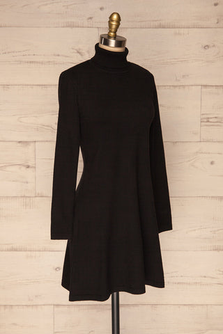 Orphne Black Sweater Dress | Robe Noire | La Petite Garçonne side view
