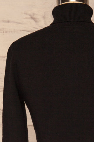 Orphne Black Sweater Dress | Robe Noire | La Petite Garçonne back close-up