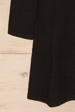 Orphne Black Sweater Dress | Robe Noire | La Petite Garçonne bottom close-up