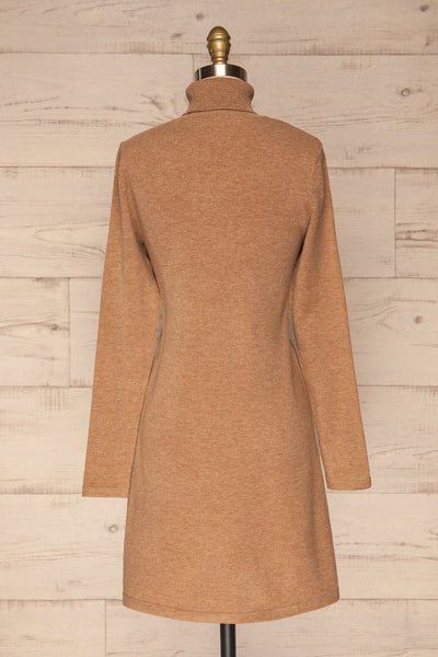 Orphne Camel Sweater Dress | Robe Beige | La Petite Garçonne back view
