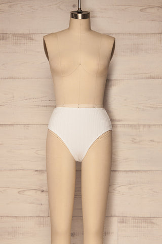 Orsenigo White High Waisted Bikini Bottom | La Petite Garçonne