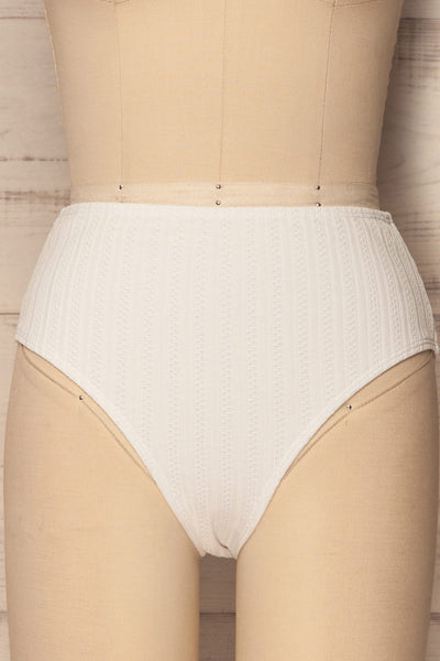 Orsenigo White High Waisted Bikini Bottom | La Petite Garçonne 3
