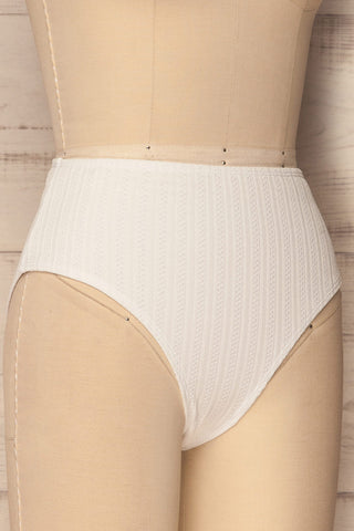 Orsenigo White High Waisted Bikini Bottom | La Petite Garçonne 5