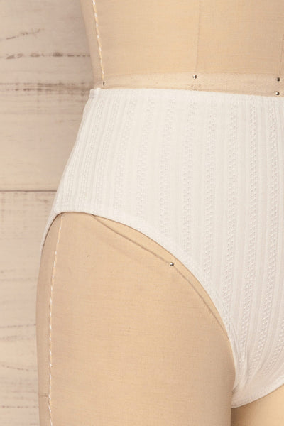 Orsenigo White High Waisted Bikini Bottom | La Petite Garçonne 2