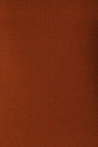 Orubica Rust Orange Ribbed Knit Sweater | La Petite Garçonne 8