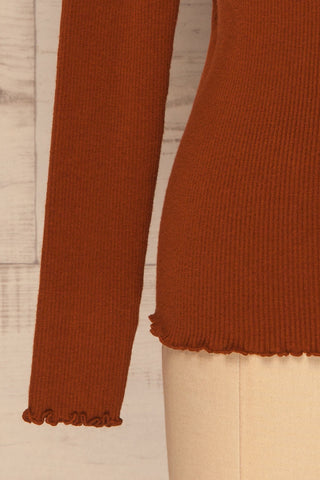 Orubica Rust Orange Ribbed Knit Sweater | La Petite Garçonne 7