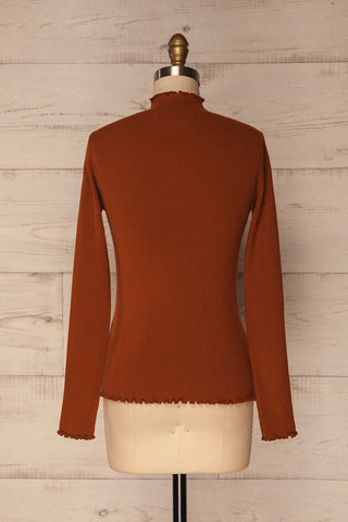 Orubica Rust Orange Ribbed Knit Sweater | La Petite Garçonne 5