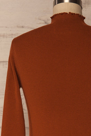 Orubica Rust Orange Ribbed Knit Sweater | La Petite Garçonne 6