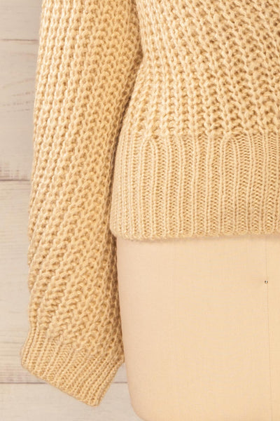 Osijek Beige Long Sleeve Knit Cardigan | La petite garçonne bottom