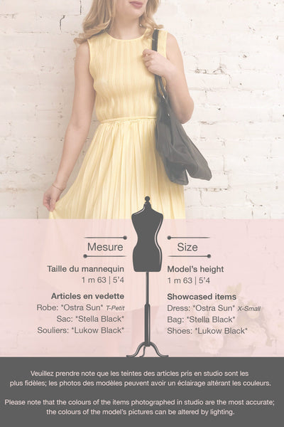 Ostra Sun Yellow Pleated Midi Dress | Boutique 1861 template