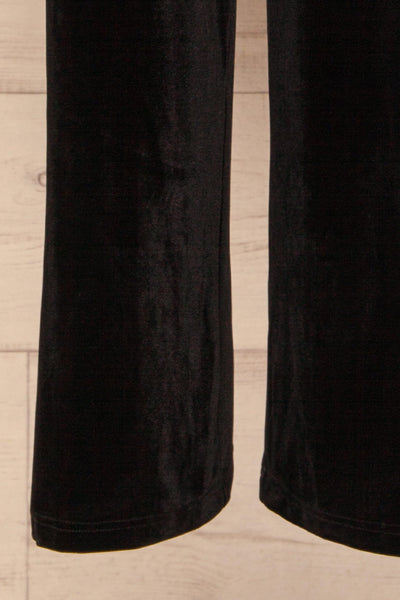 Ostroleka Black Wide Leg Velvet Pants | La petite garçonne bottom