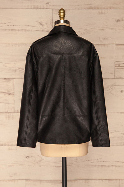 Ostrowiec Black Oversized Motorcycle Jacket | La petite garçonne back view