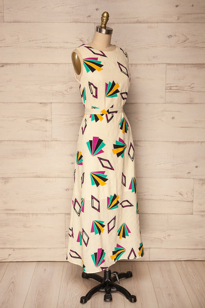 Otocac Colourfully Patterned Flare Maxi Dress | La Petite Garçonne side view