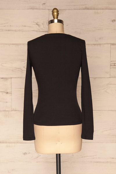 Otwock Black Long Sleeved Top | La Petite Garçonne back view