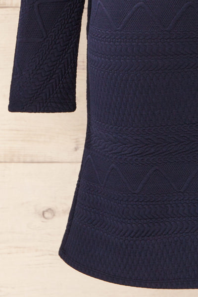Oufa Navy Long Sleeve Textured Dress | La petite garçonne bottom