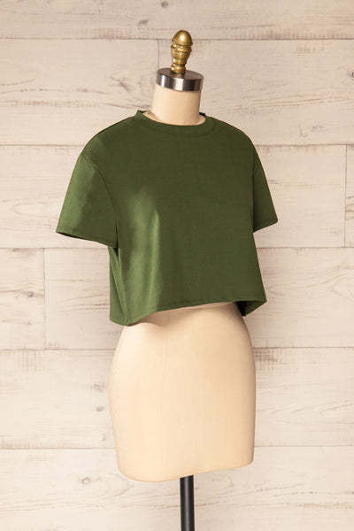 Ovca Green Cropped T-Shirt | La petite garçonne side view