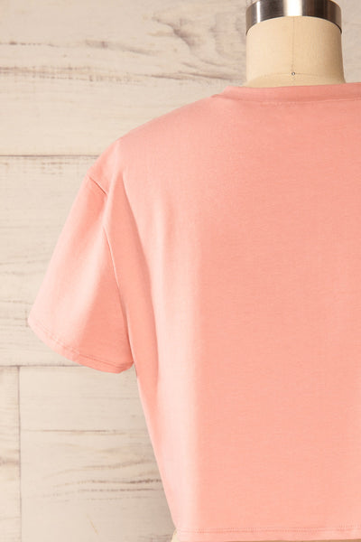 Ovca Pink Cropped T-Shirt | La petite garçonne back close up