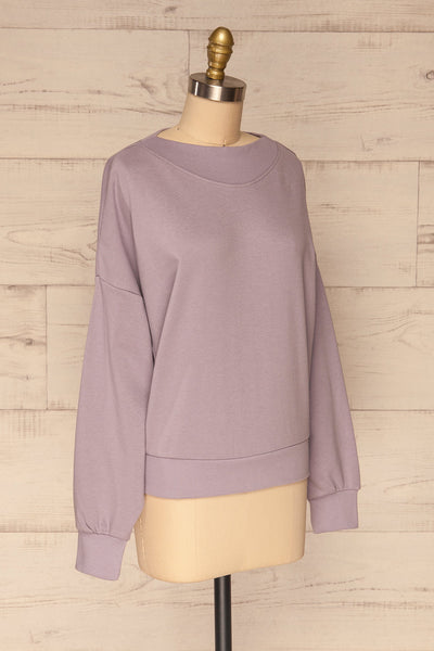 Ozorkow Lilac Long Sleeve Sweatshirt | La petite garçonne side view