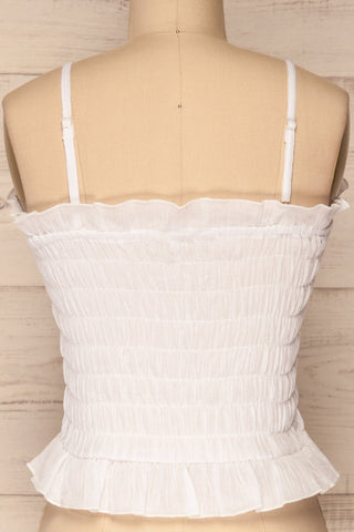 Padul Winter White Ruched Bustier Crop Top | La Petite Garçonne 6