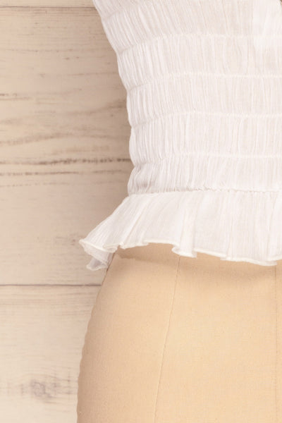 Padul Winter White Ruched Bustier Crop Top | La Petite Garçonne 7